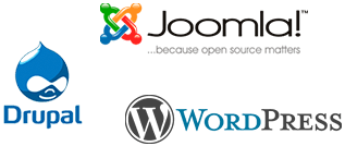 Joomla, Drupal, Wordpress